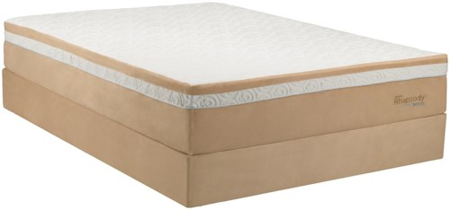 Tempur-Pedic® TEMPUR-Contour? Rhapsody Breeze King Medium Firm Mattress and Ecru High Profile Foundation