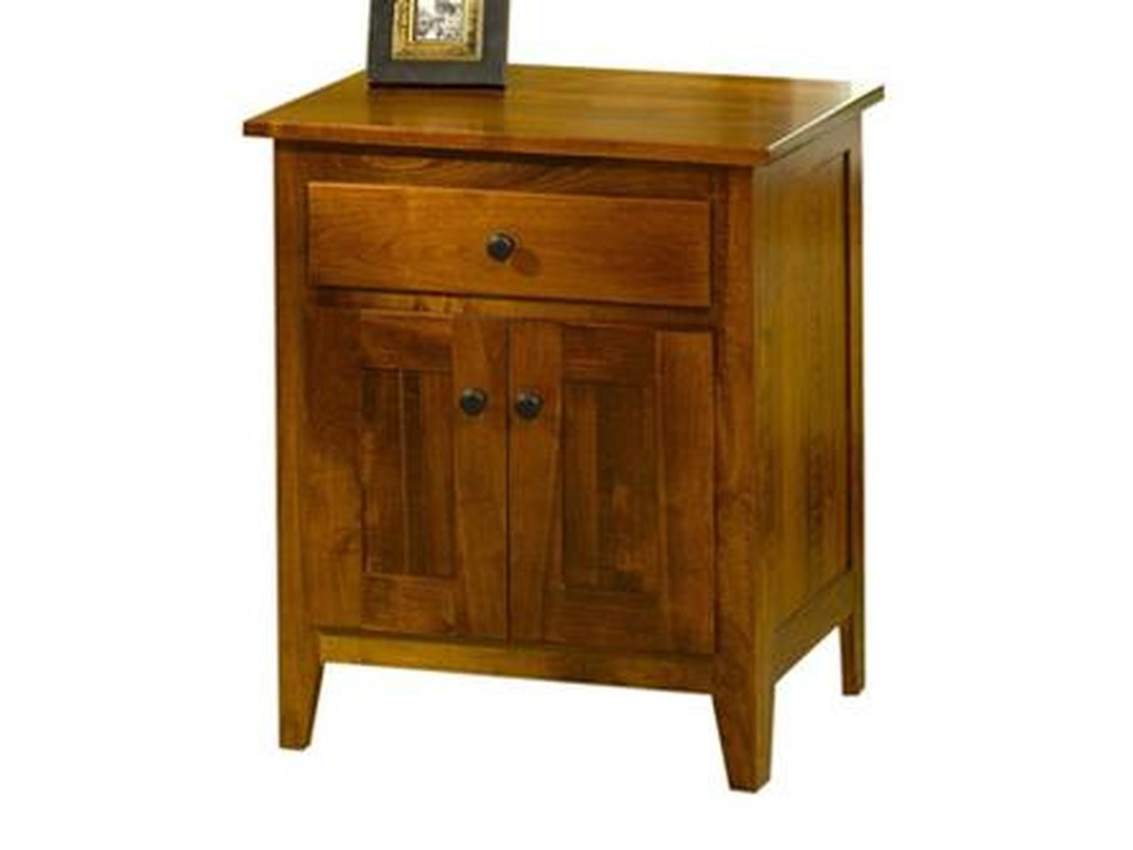 The Urban Collection Jamestown SquareNightstand with Doors