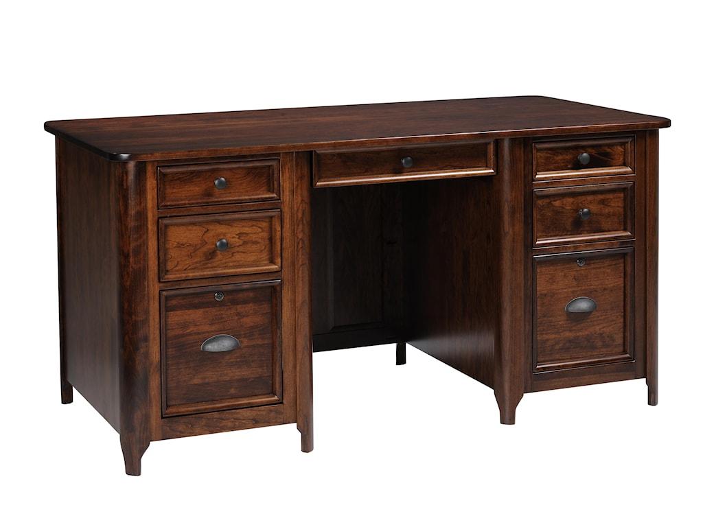 Yutzy urban collection hudson home office 88215 double pedestal desk dunk bright furniture double pedestal desk