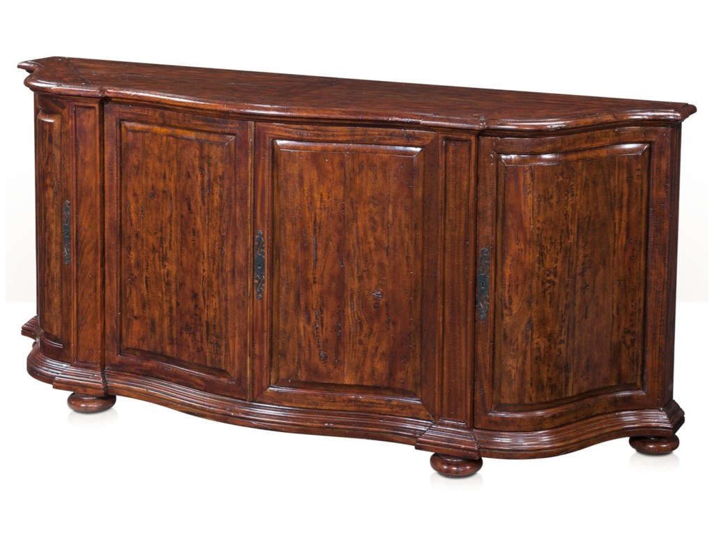 Theodore Alexander Cabinets and SideboardsDouble Serpentine Sideboard