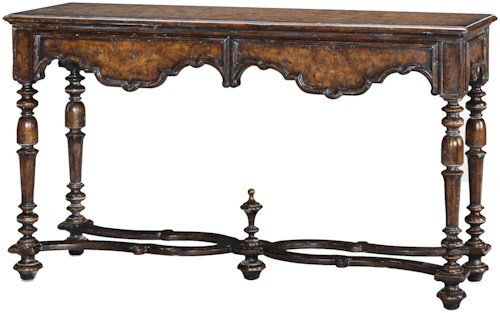 Theodore Alexander Classic yet Casual Italian Villa Console Table with 2 Drawers