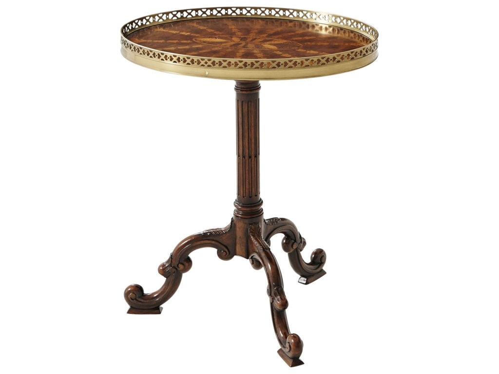 Theodore Alexander Essential TARadiating Parquetry Lamp Table