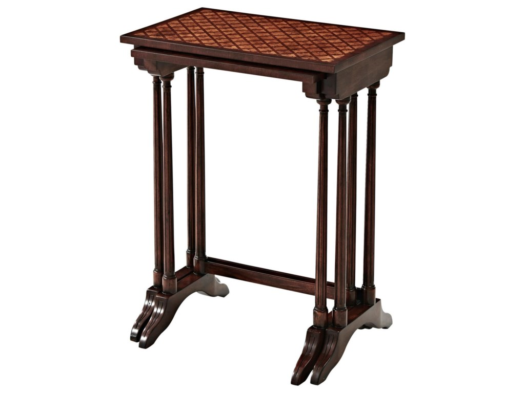 Theodore Alexander Essential TAA Parquetry Nest of Tables