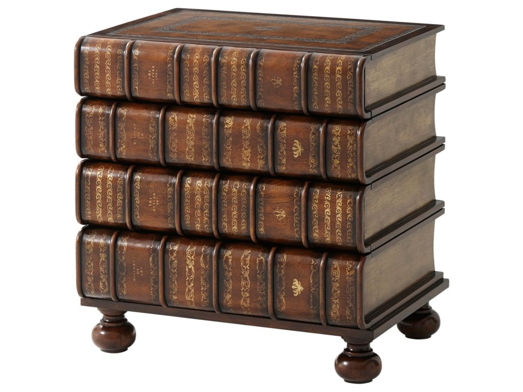 Theodore Alexander Essential TAHand Carved/Gilt Faux Book Chest