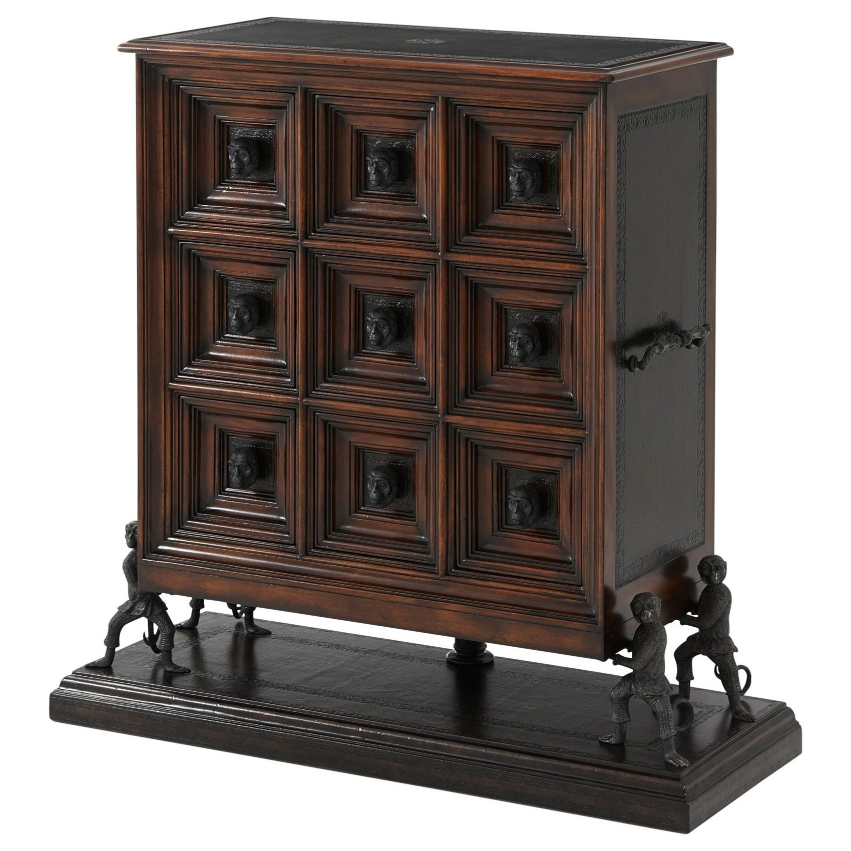The Humorous Chest with Monkey Accents