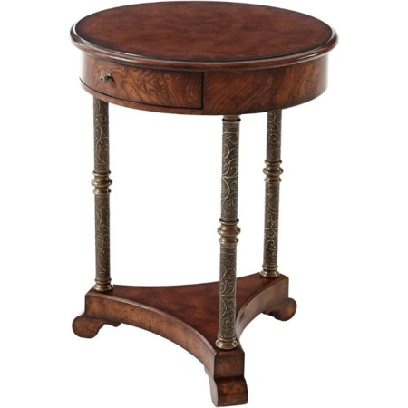 Round Lamp End Table