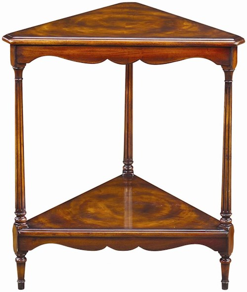 Theodore Alexander Tables Triangular Corner Lamp End Table