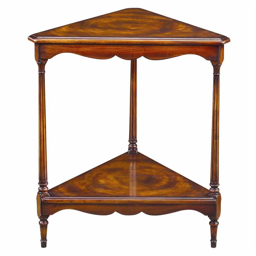 Theodore Alexander Tables Triangular Corner Lamp End Table   Baeru0027s  Furniture   End Tables