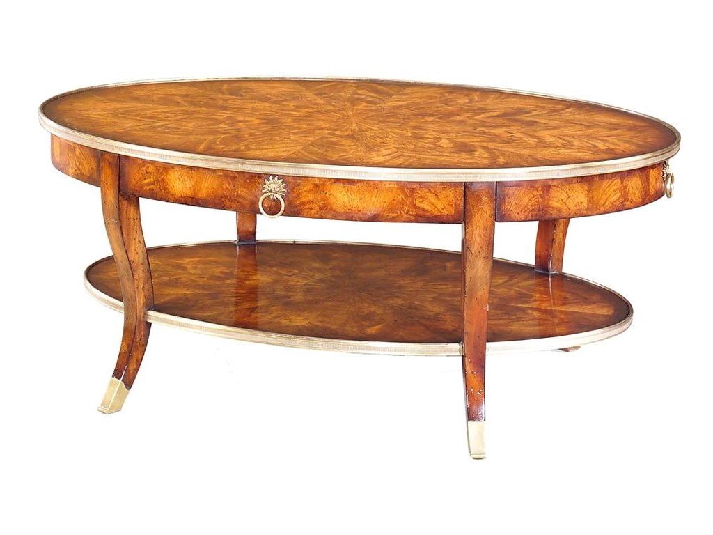 Theodore Alexander TablesOval Cocktail Table