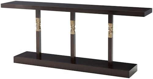 Theodore Alexander Tables Erno Console Table with Brass Accents