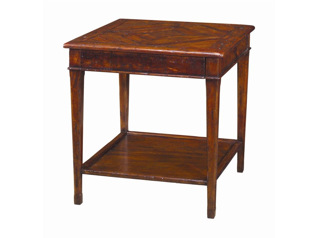 Theodore Alexander TablesSquare Antiqued Wood End Table