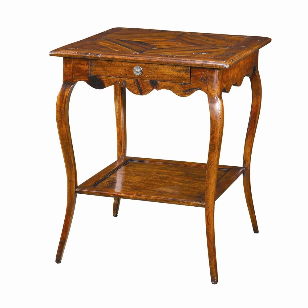 theodore alexander tables square antique wood bedside table