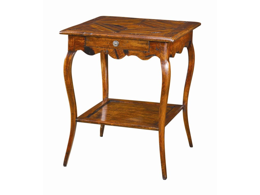 Theodore Alexander TablesSquare Antique Wood Bedside Table