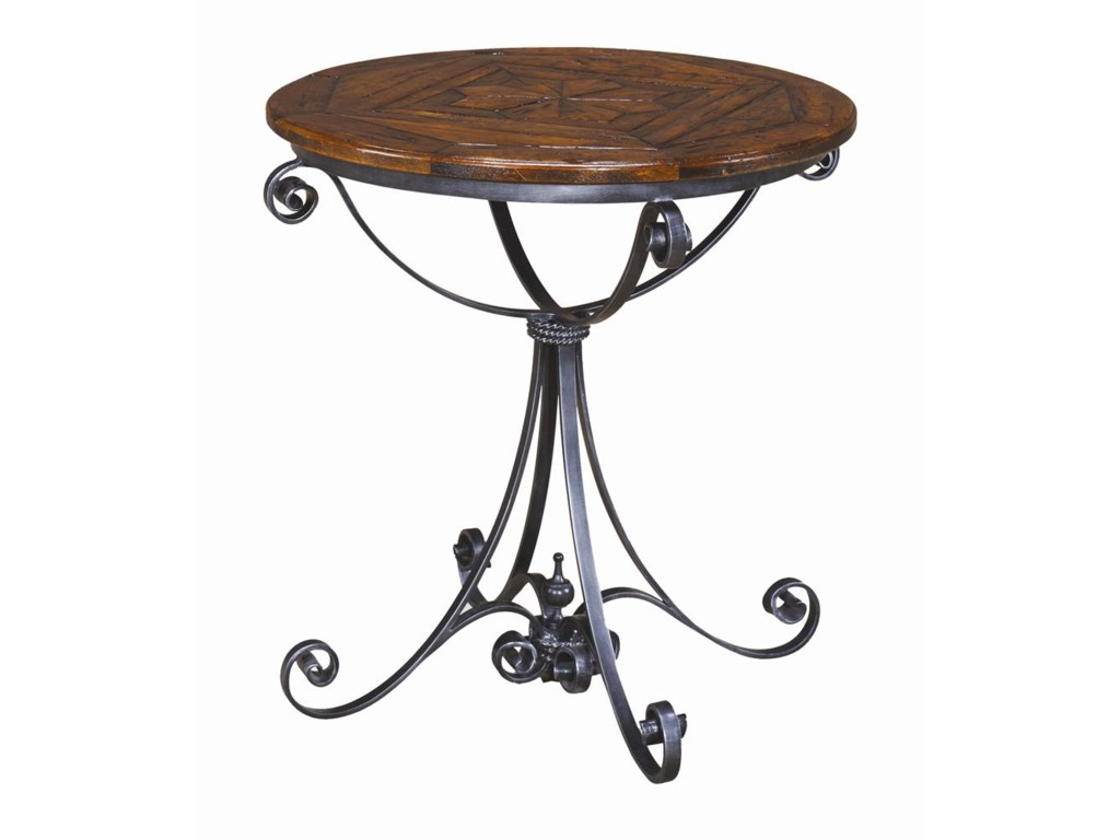Theodore Alexander TablesRound Wood Top End Table