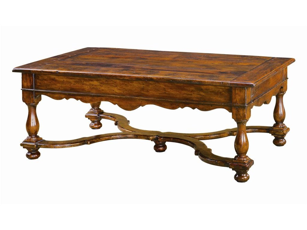 Theodore Alexander TablesRectangular Antiqued Wood Cocktail Table