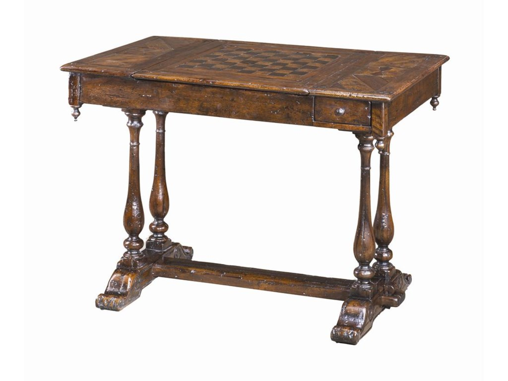 Theodore Alexander Tables Antiqued Wood Games Table Sprintz