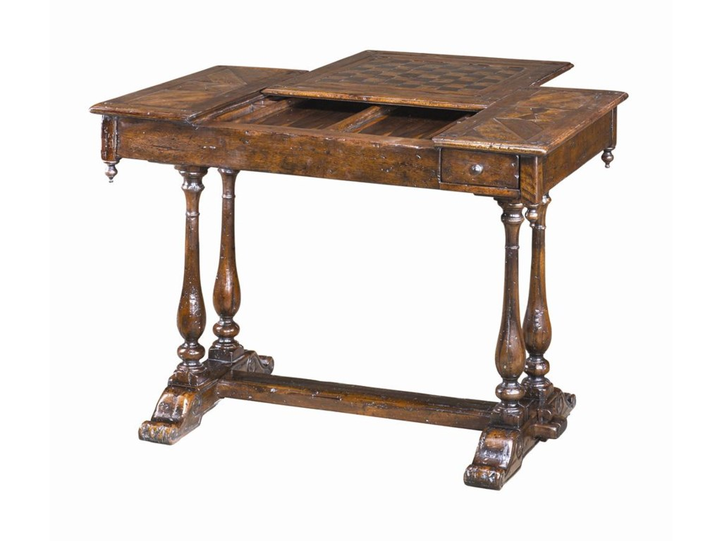 Theodore Alexander TablesAntiqued Wood Games Table