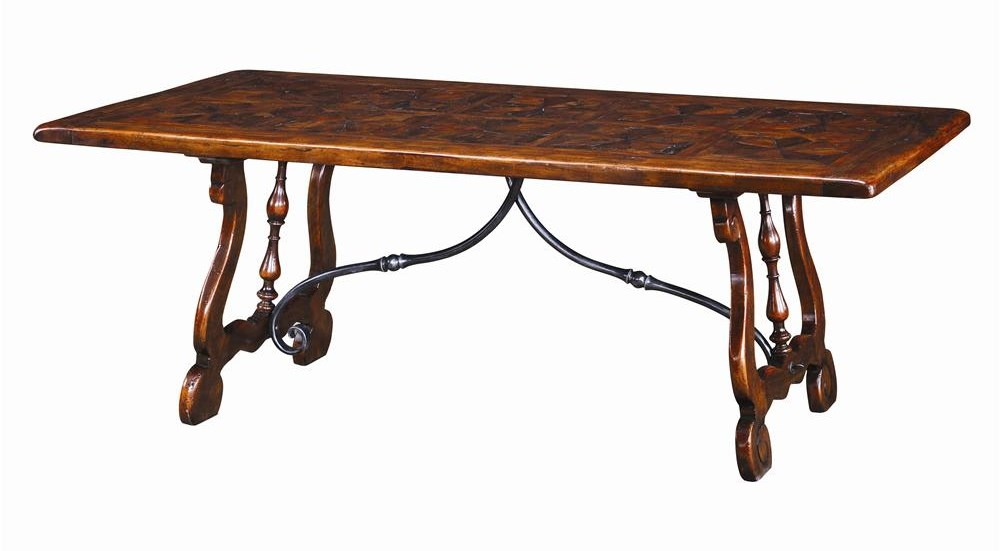 Theodore Alexander TablesRectangular Antiqued Wood Dining Table