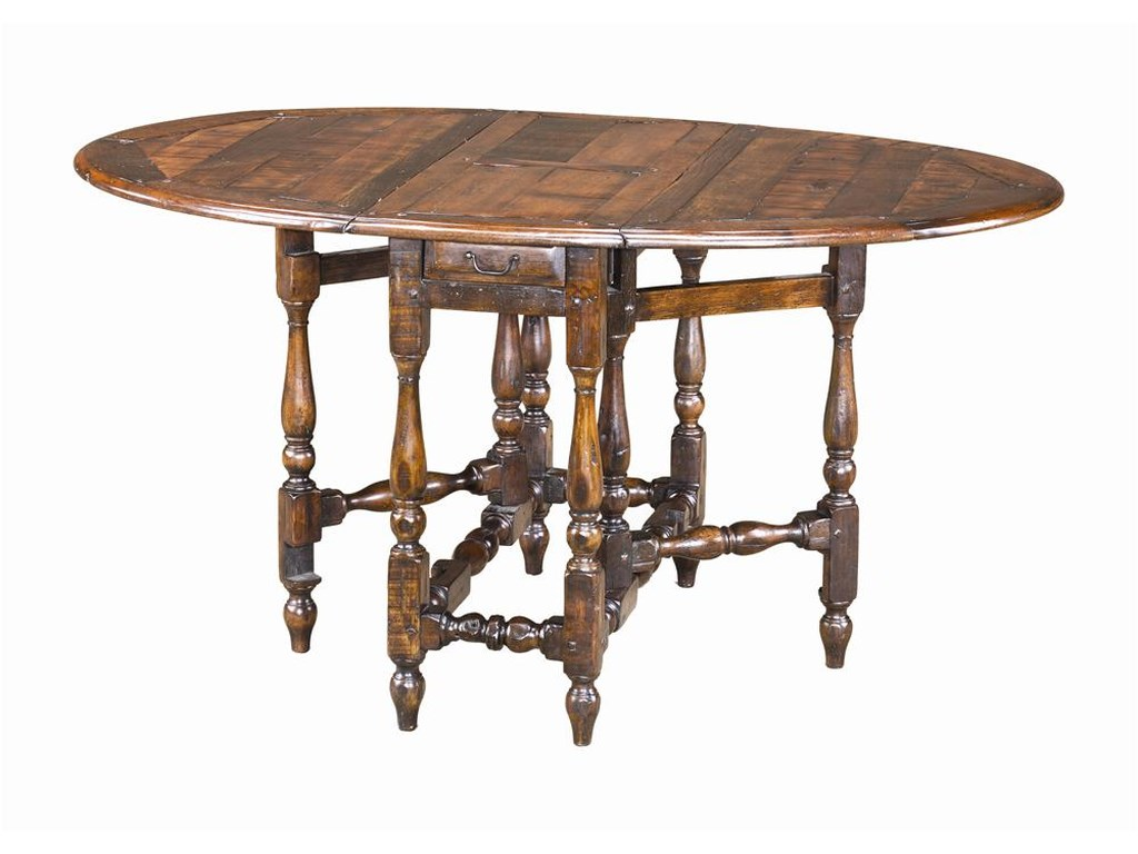 Theodore Alexander TablesOval Antiqued Wood Dining Table