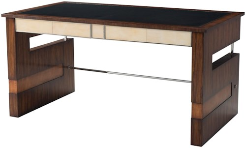 Theodore Alexander Vanucci Eclectics Striking Elements Writing Table with Inset Leather Top