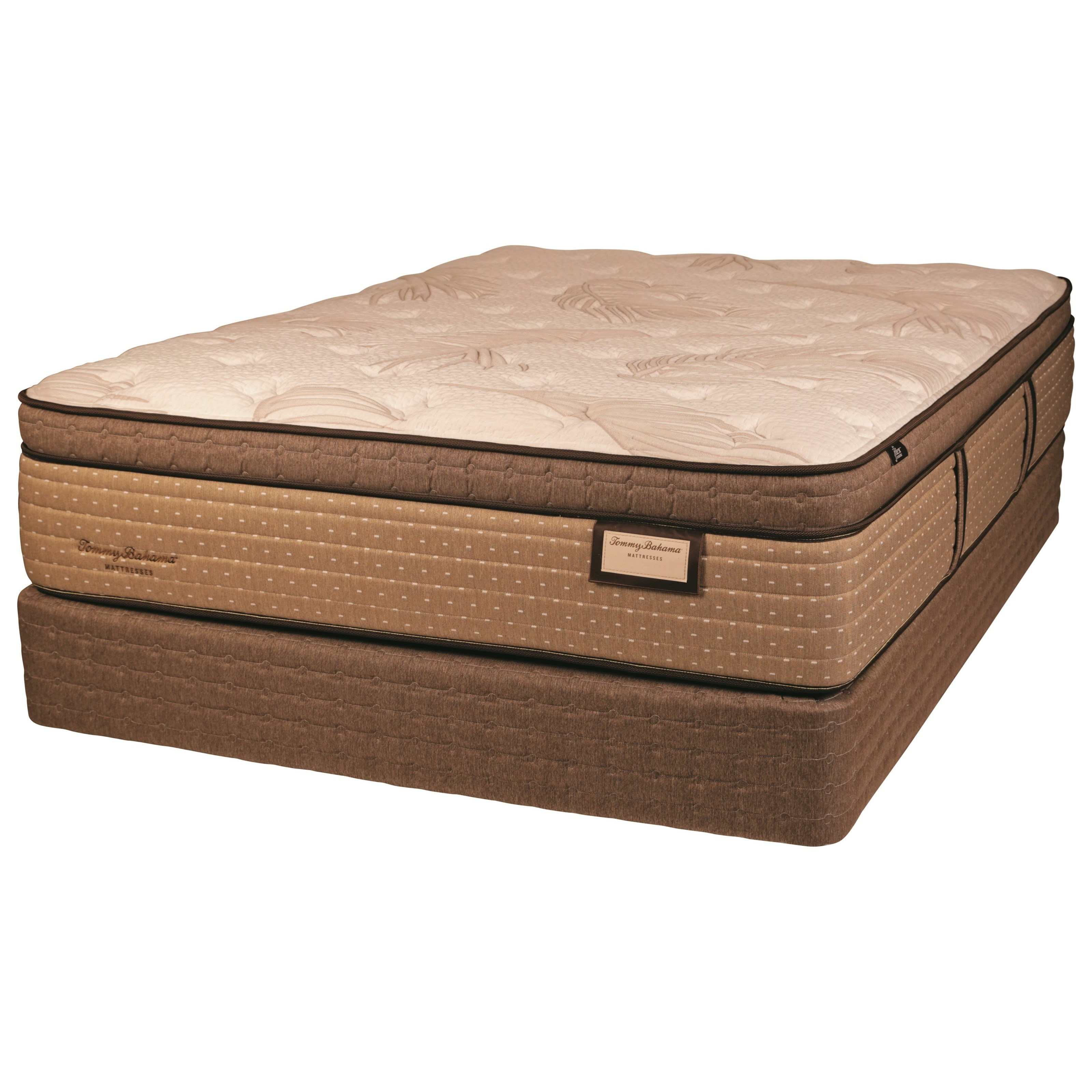 """Twin Euro Top Luxury Mattress and 9"""" Amish Hand Crafted Solid Wood Foundation"""