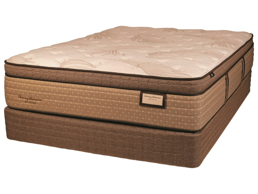 Tommy Bahama Mattress Tommy Bahama Salty Kisses ETTwin Euro Top Luxury Mattress Set