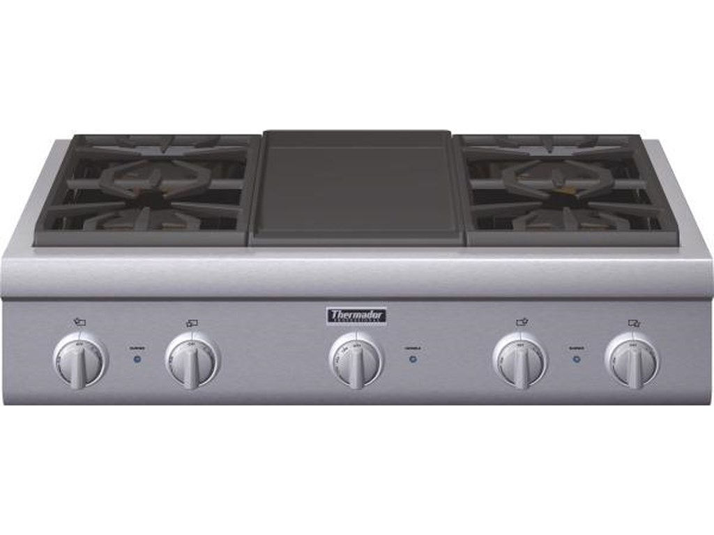 36 4 Burner Gas Rangetop With Griddle By Thermador