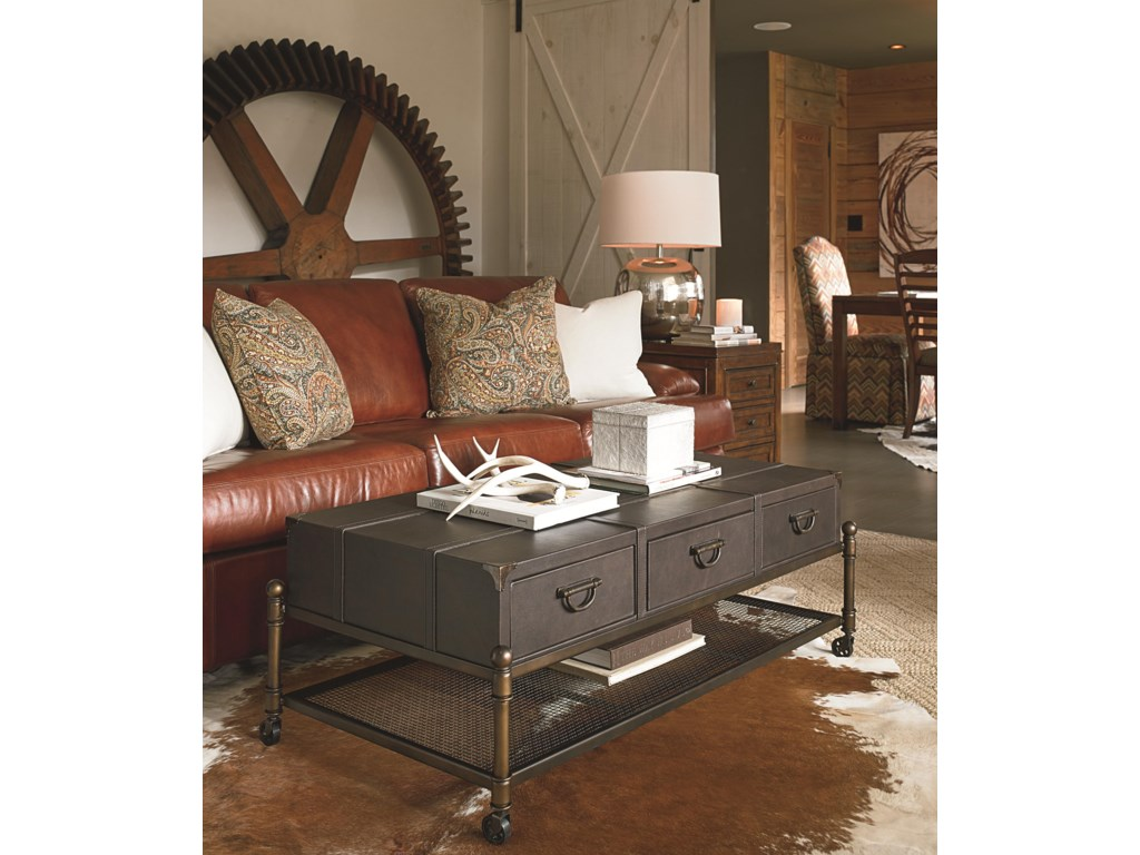 Thomasville® American AnthemLeather Cocktail Table