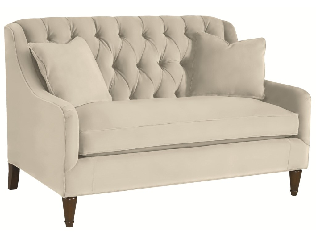 thomasville® barcelona tufted back settee sofa  darvin furniture  settees. thomasville® barcelona tufted back settee sofa  darvin furniture