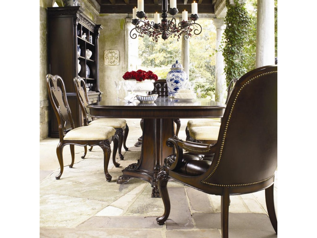Thomasville Brompton Hall 7 Piece Double Pedestal Dining Table