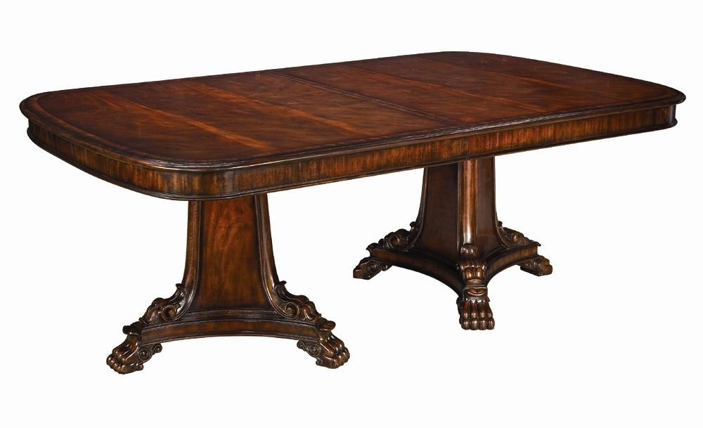 Detail of pedestal dining table thomasville kitchen table - Thomasville kitchen tables ...