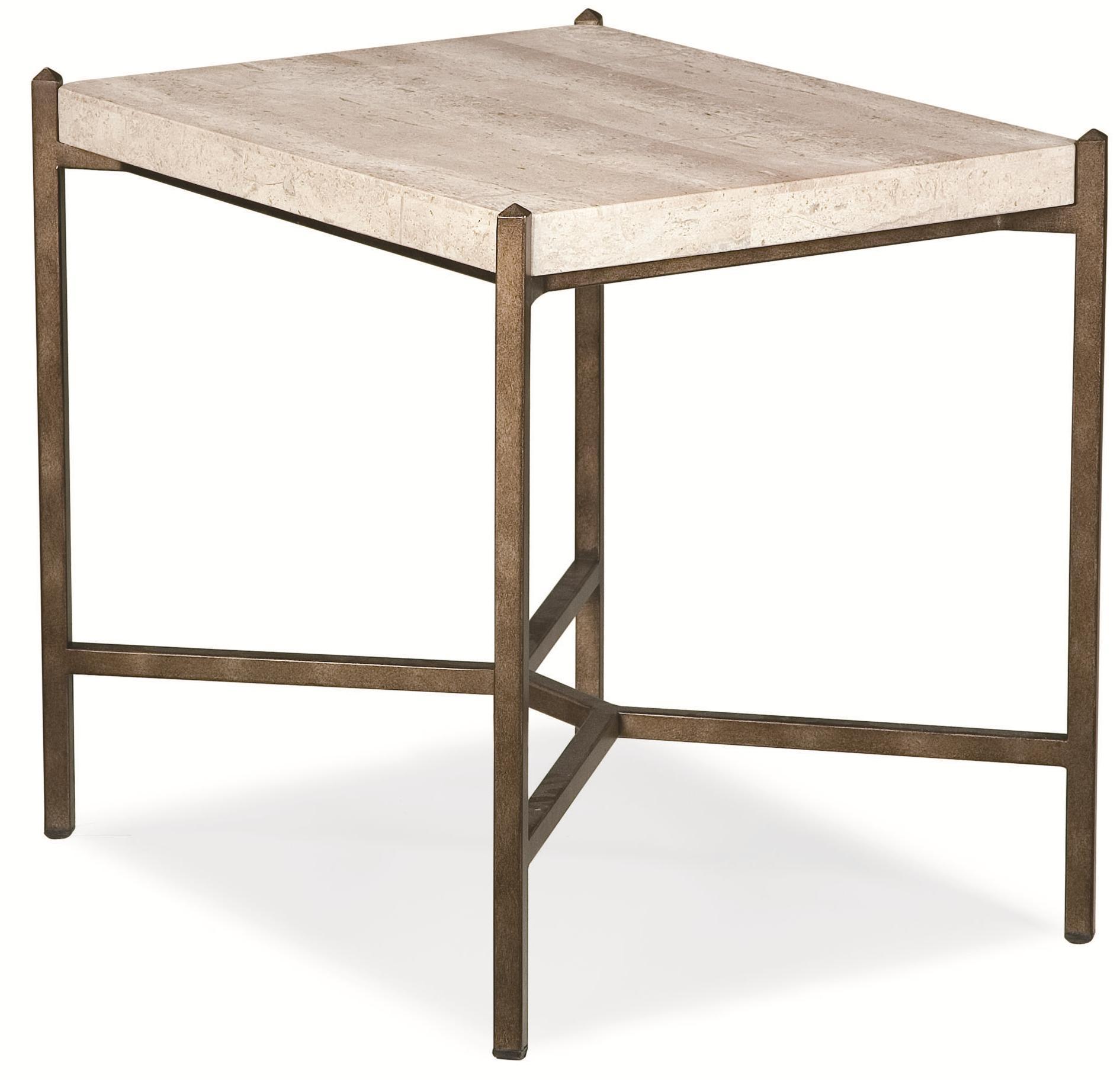 Thomasville® Cachet End Table W/ Travertine Stone Top