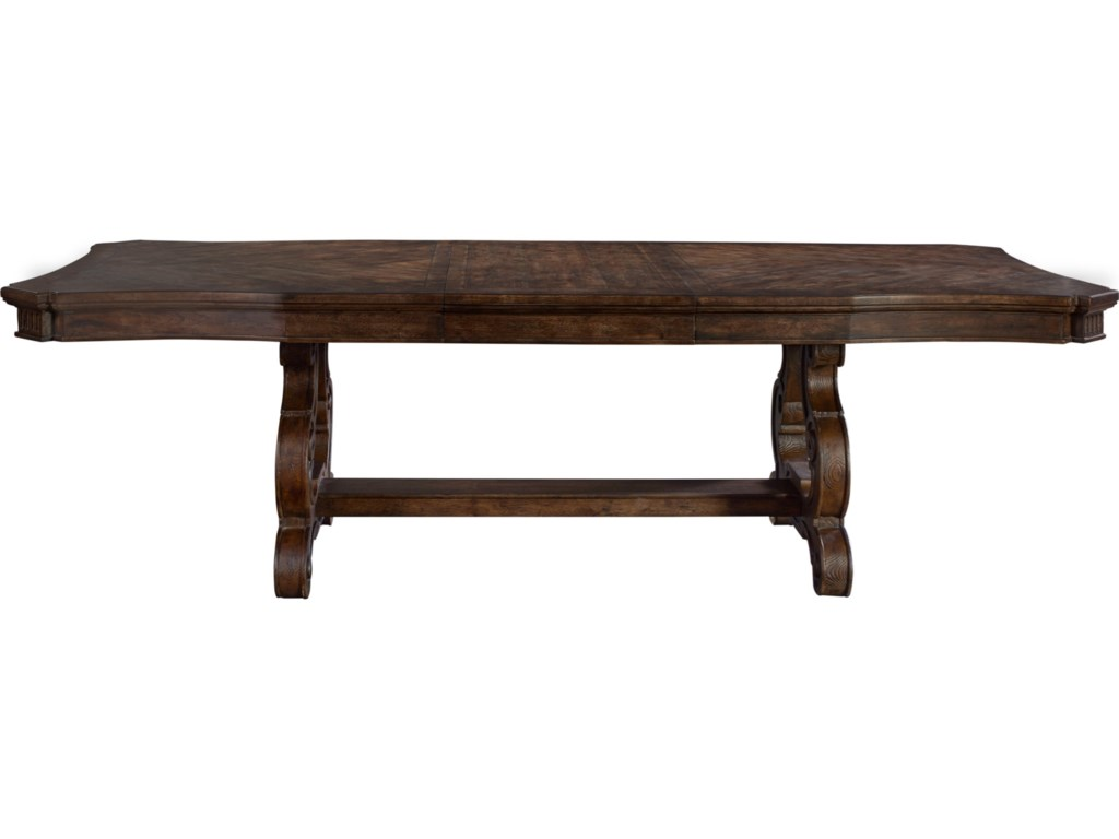 ThomasvilleR Casa Veneto Stella Trestle Dining Table With Extension Leaves