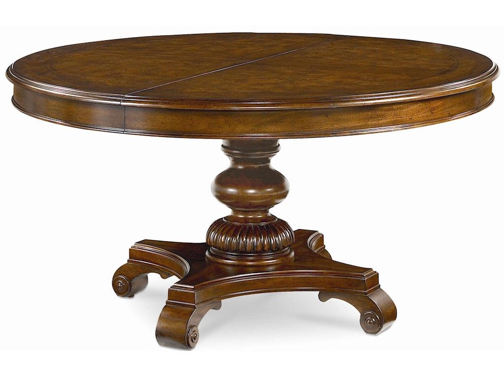 Thomasville® Ernest Hemingway Rift Valley Round Dining Table ...