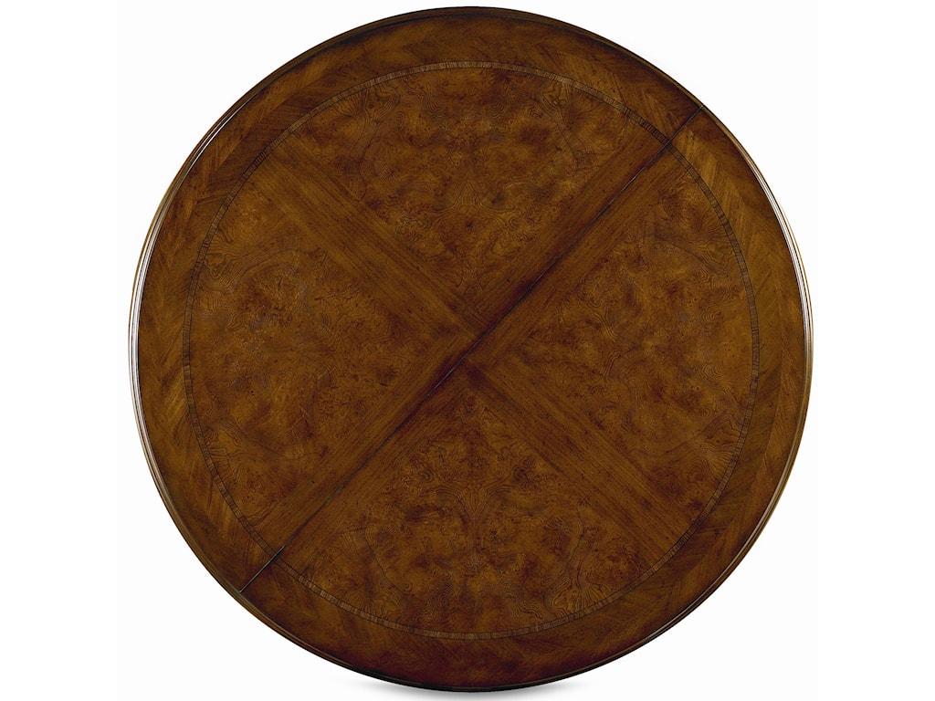 Round Fancy-Face Veneer Table Top