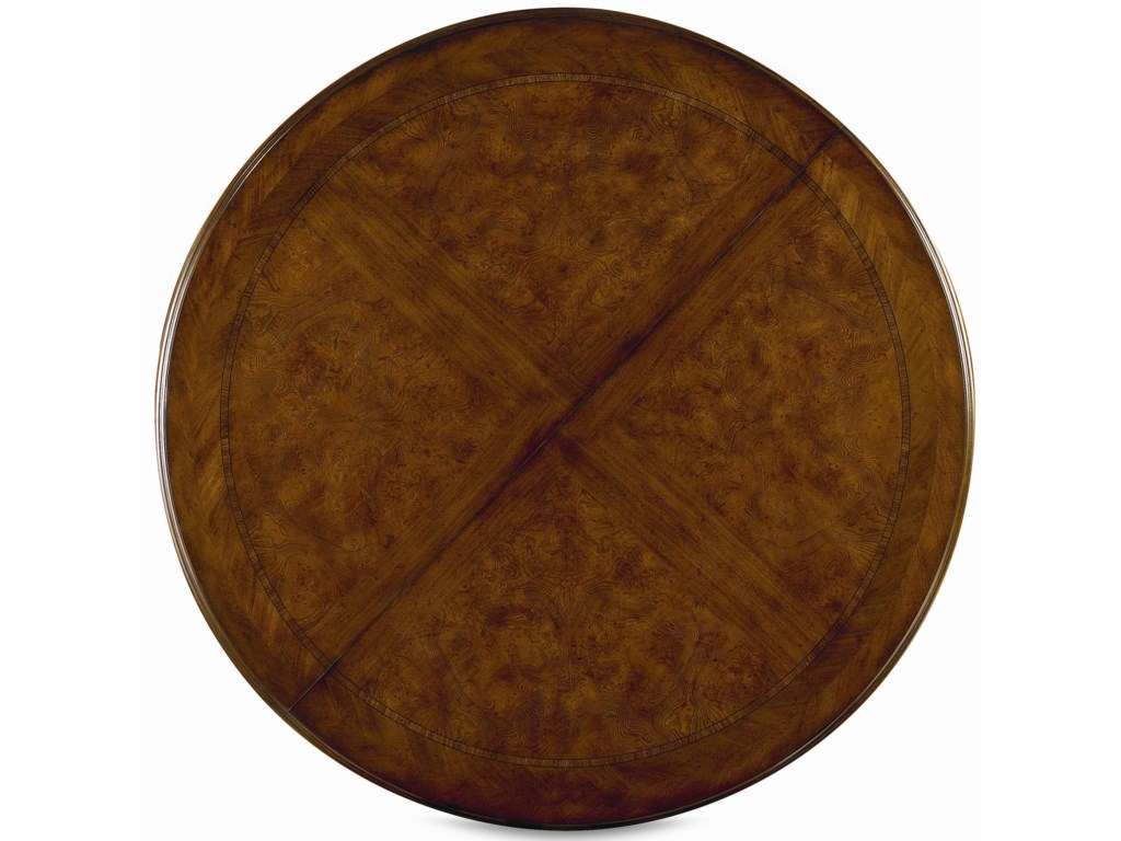 Round Fancy-Face Veneer Table Top