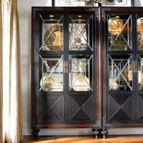 Masai Curio Cabinet Shown in Room Setting