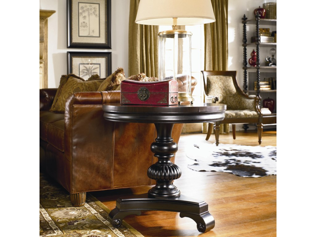 The Fifth Column Lamp Table Shown in Room Setting