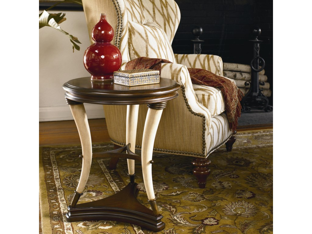Hunt Club Accent Table Shown in Room Setting