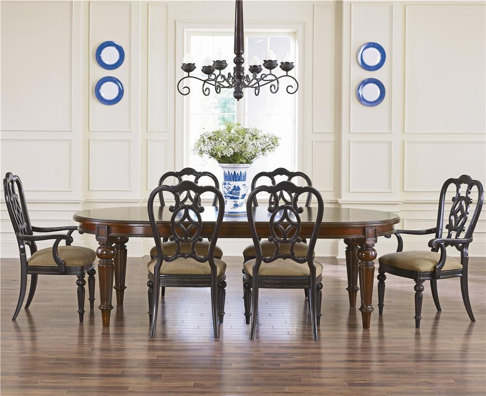 "thomasville® fredericksburg oval dining table with two 20"" leaves"