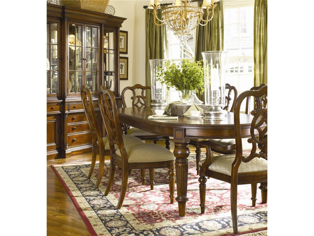 Shown with Side Chairs, Oval Dining Table, and China Cabinet