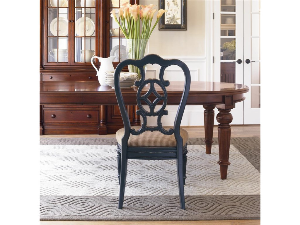 Shown with a Whiskey Finished Dining Table, Creating an Eclectic, Contemporary Note