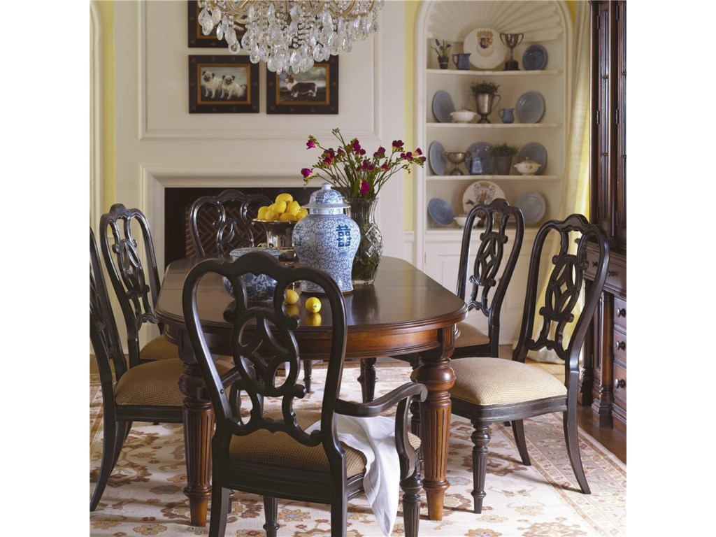 Shown with Matching Side Chairs and Dining Table in a Whiskey Finish for an Eclectic Appeal