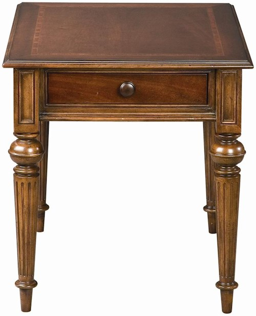 Thomasville® Fredericksburg Rectangular End Table with One Drawer