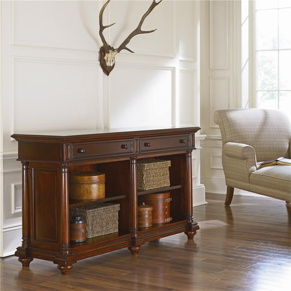 Thomasville Fredericksburg Library Sofa Table With Two Drawers  ~ Sofa Tables With Drawers