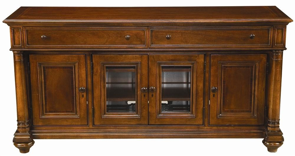 Thomasville® Fredericksburg Media Console with Four Doors - Dunk ...
