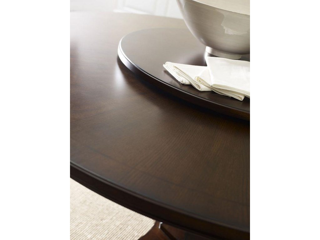Thomasville® Harlowe & FinchAdelaide Round Dining Table w/ Lazy Susan