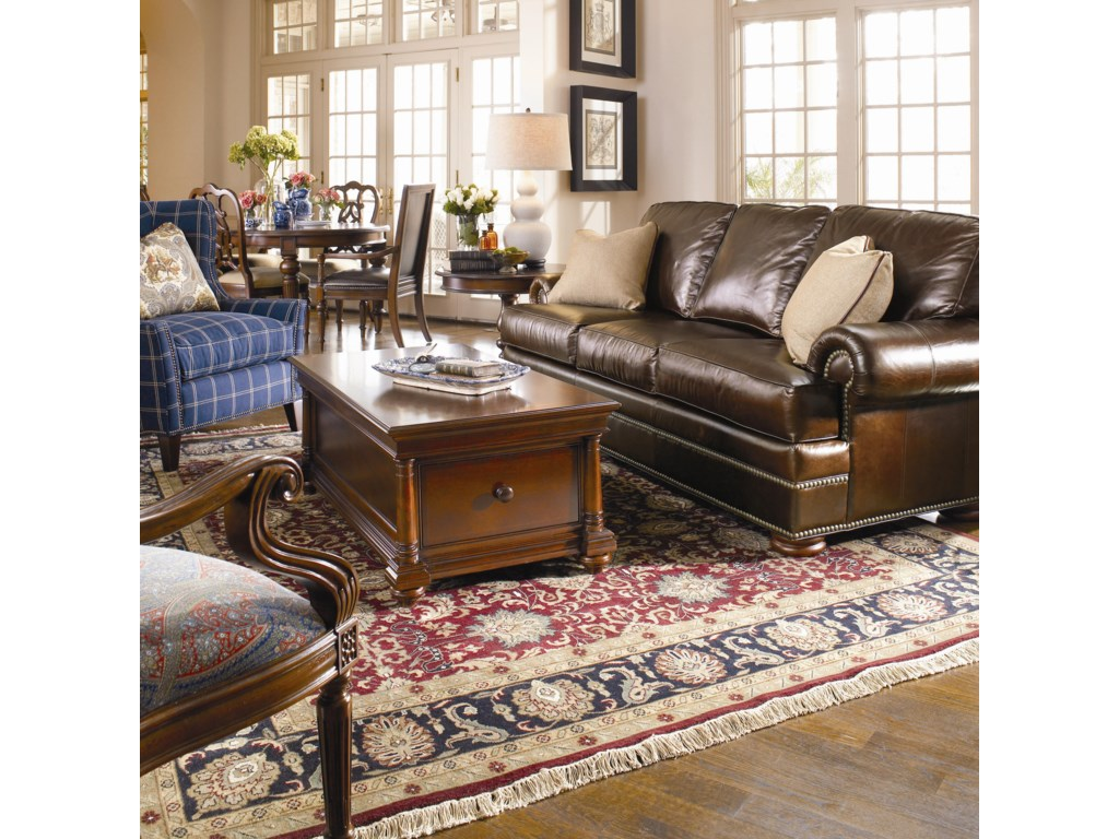 Shown In Room Setting Thomasville Leather Choices Ashbyselect Sofa