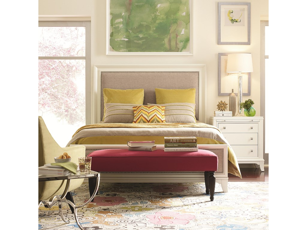 Shown in Room Setting with Bench and Nightstand