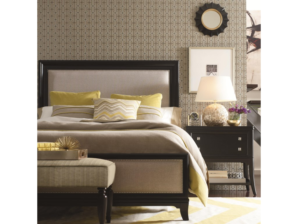 Shown in Room Setting with Nightstand and Bench